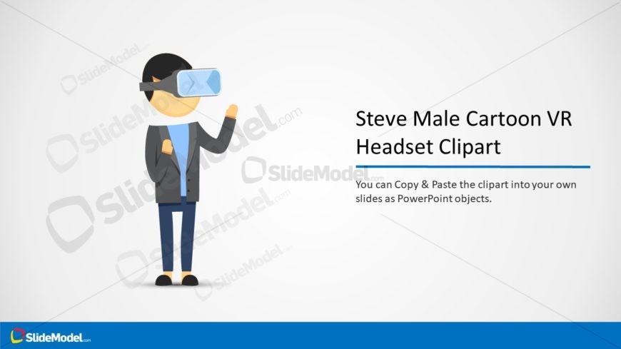 Presentation of VR Headset Cartoon