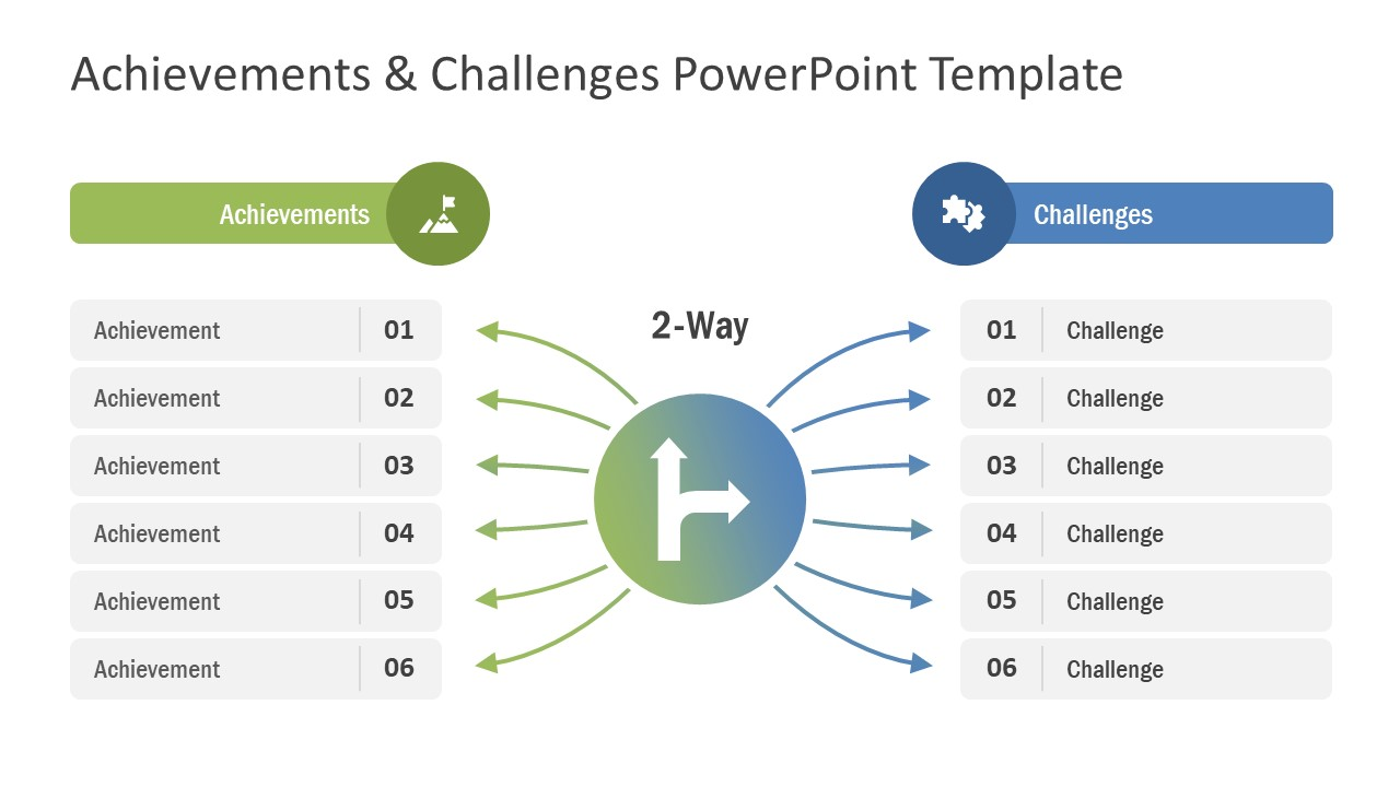 Two Way Success PowerPoint Template