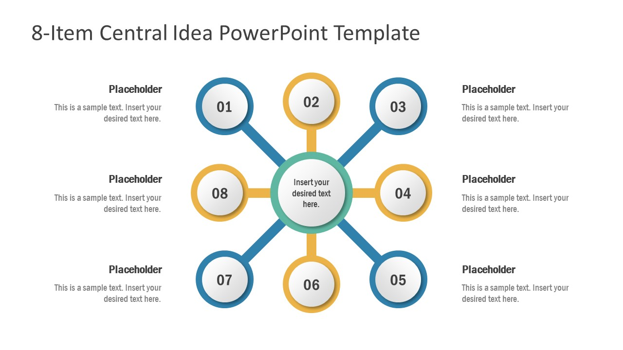 8 Steps Concept Diagram Template