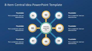 PPT 8 Steps Spoke Diagram