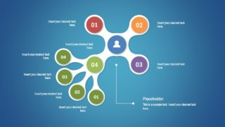 4-Branch Awesome Tree Diagram Template for PowerPoint