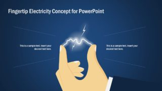 Fingertip Electricity Concept PowerPoint Template