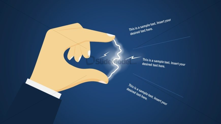 Editable Electricity Fingertip Spark Template