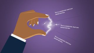 Flat Shapes of Hand and Electric Spark