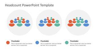 3 Groups Headcount PowerPoint