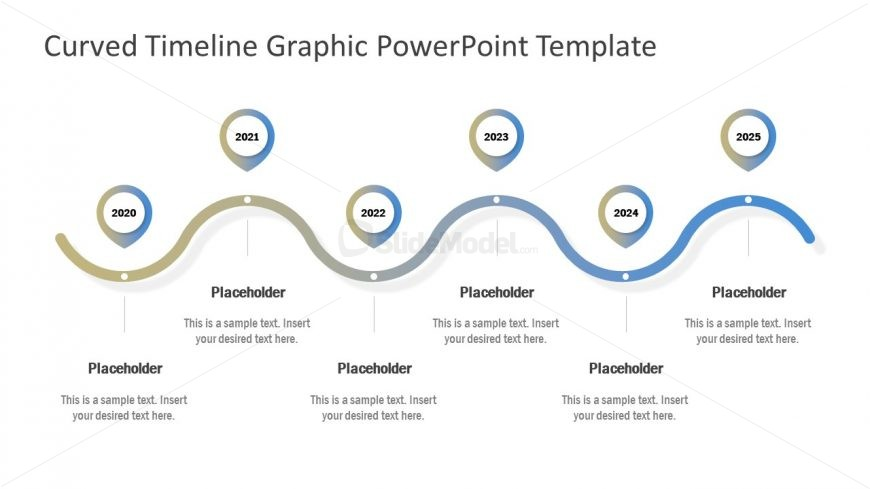 Presentation of Curved Timeline