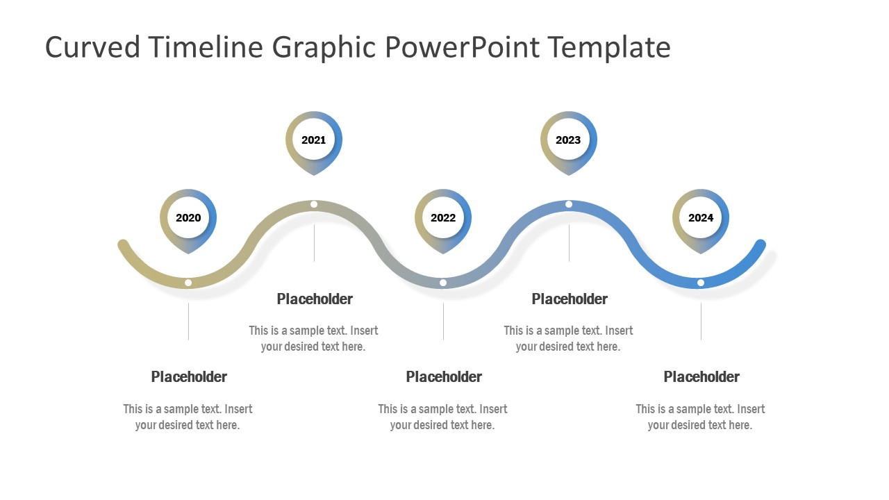 5 Steps Curved Timeline Template