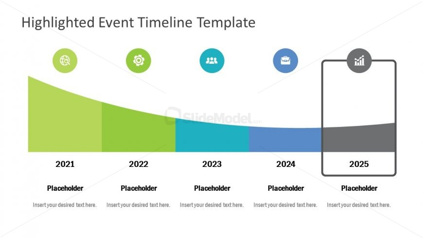 Flat Template Infographic Timeline