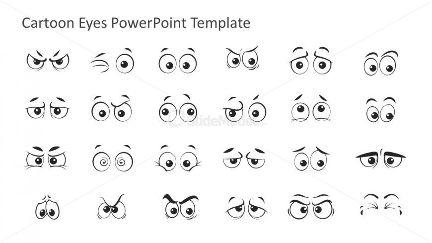 PPT Cartoon Eye Expressions
