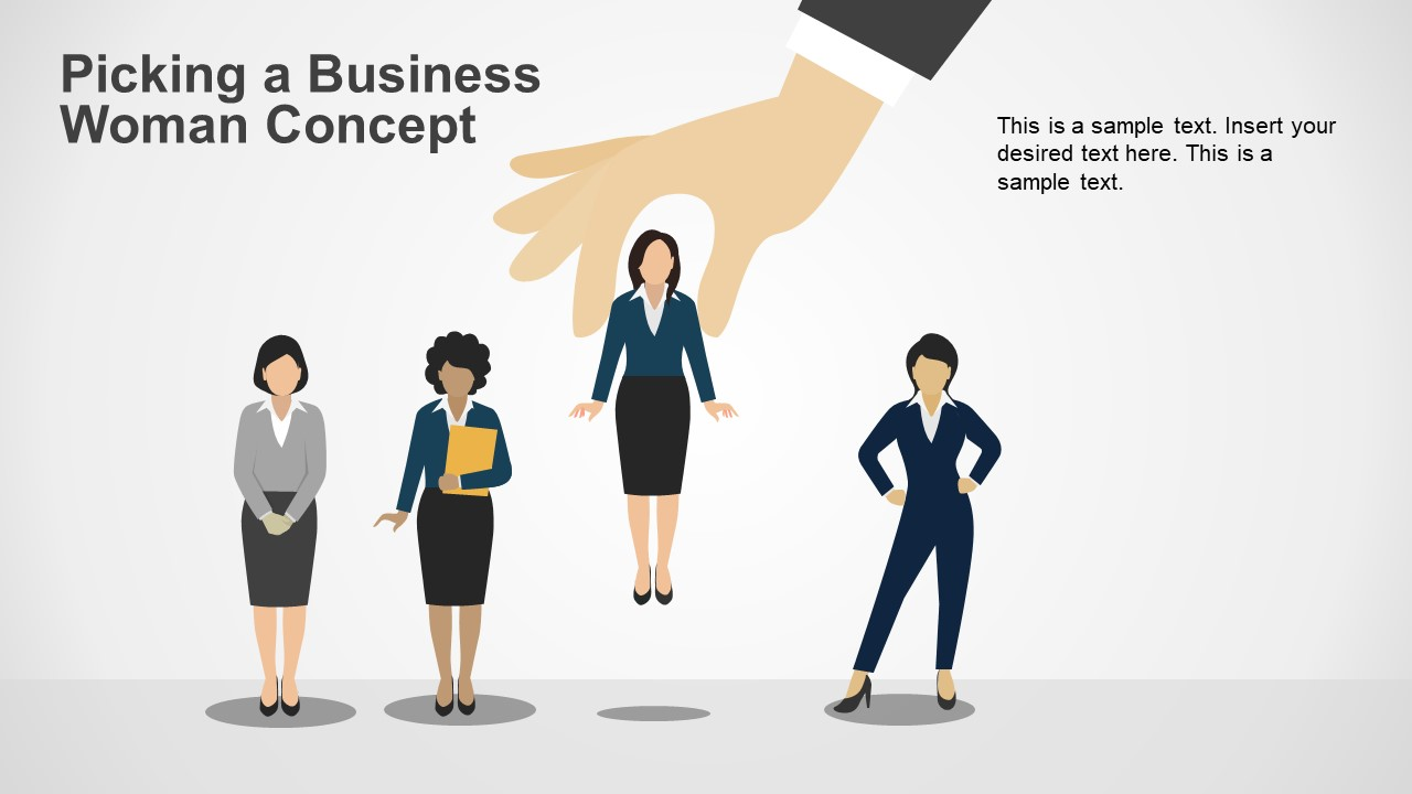 PowerPoint Businesswoman Editable Template