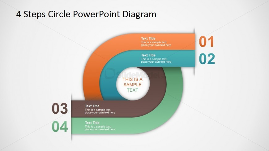 PowerPoint Circular Diagram with Four Steps