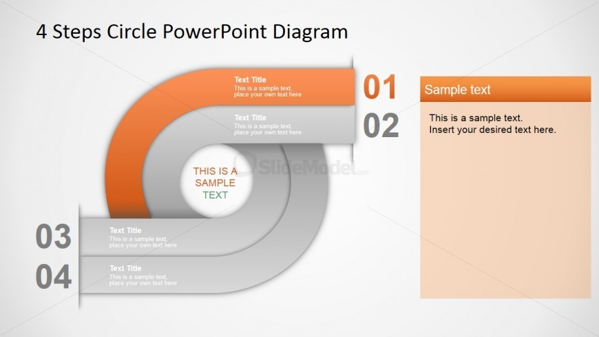 PowerPoint Cycle Diagram Four Steps