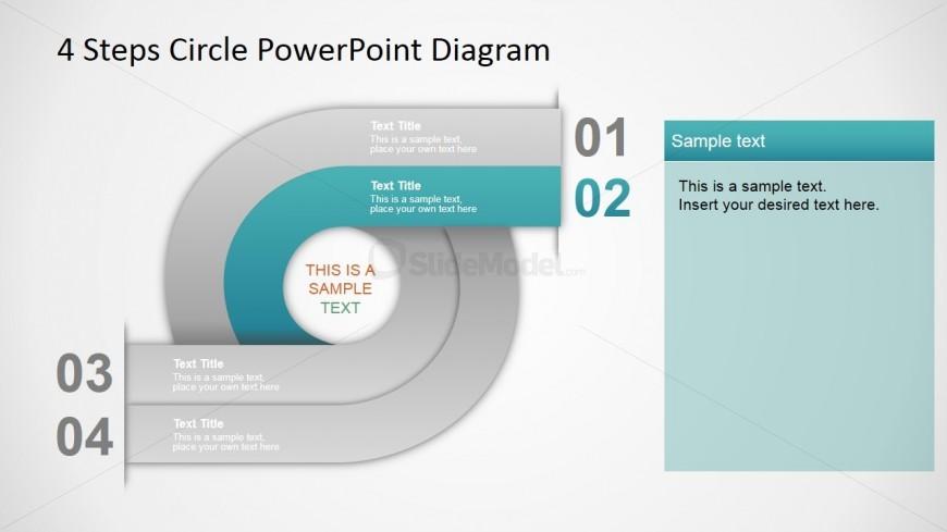PowerPoint Gradient 4 Steps Circular Diagram