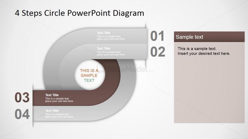 PowerPoint Circular Diagram 4 Steps