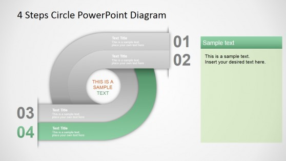 Four Steps PPT Template Circular Diagram
