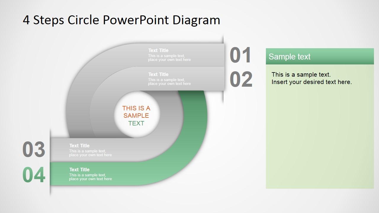 4 steps circle powerpoint diagram slidemodel circular diagram ppt template ccuart Images