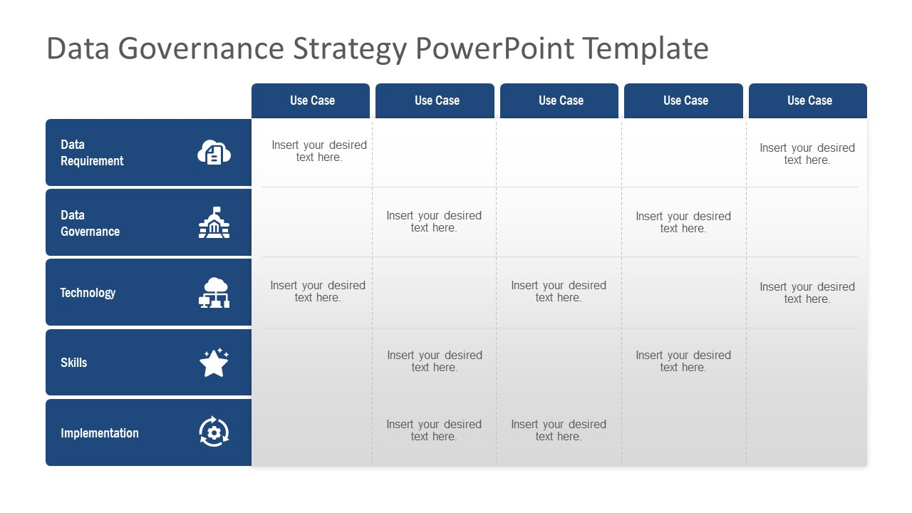 Governance Strategy PowerPoint Martix