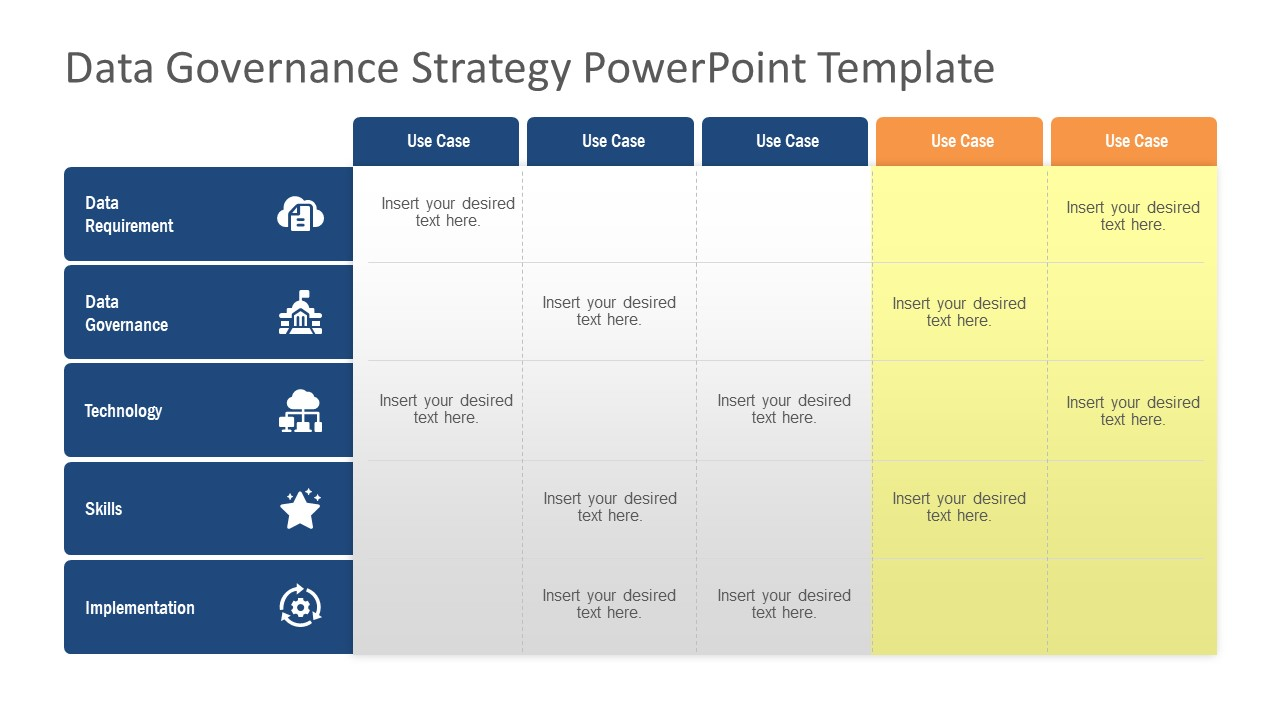 Data Governance Matrix Template Ppt
