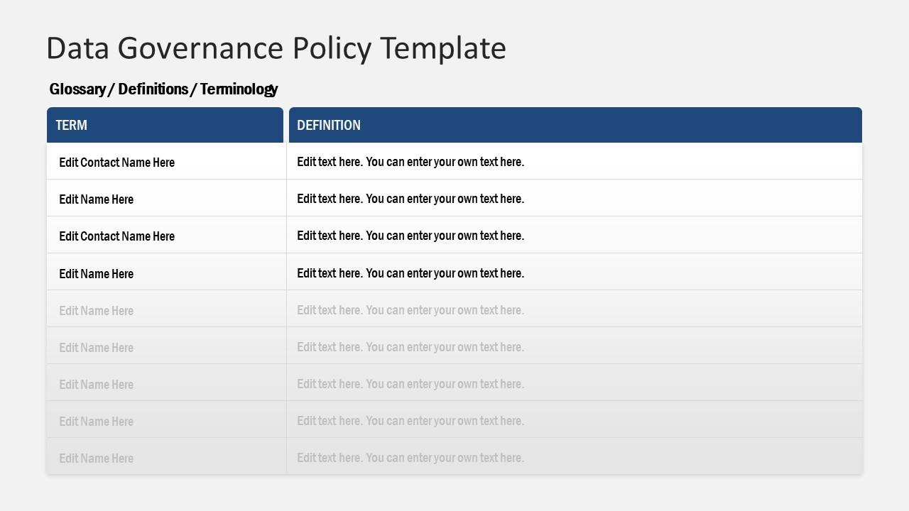 PPT Data Governance Information