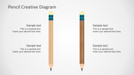 Vertical Pencil Shape for Presentations