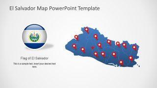 Editable El Salvador Map PowerPoint Template