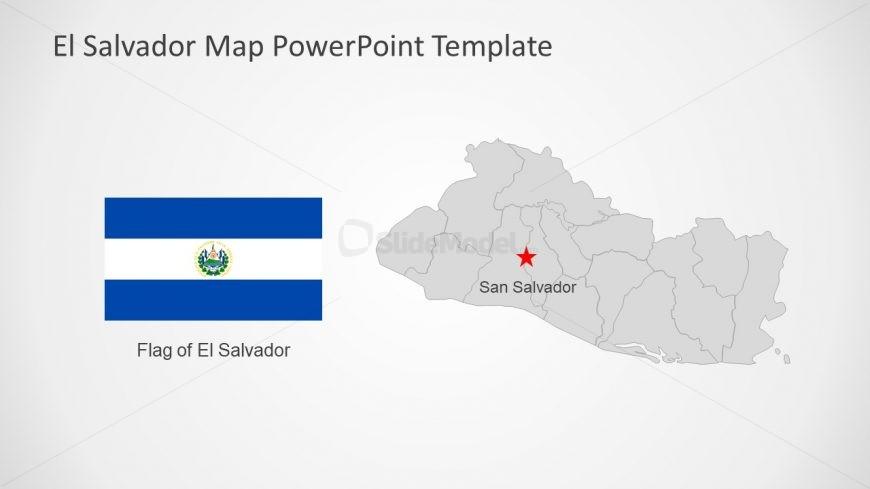 Editable Map Presentation of El Salvador