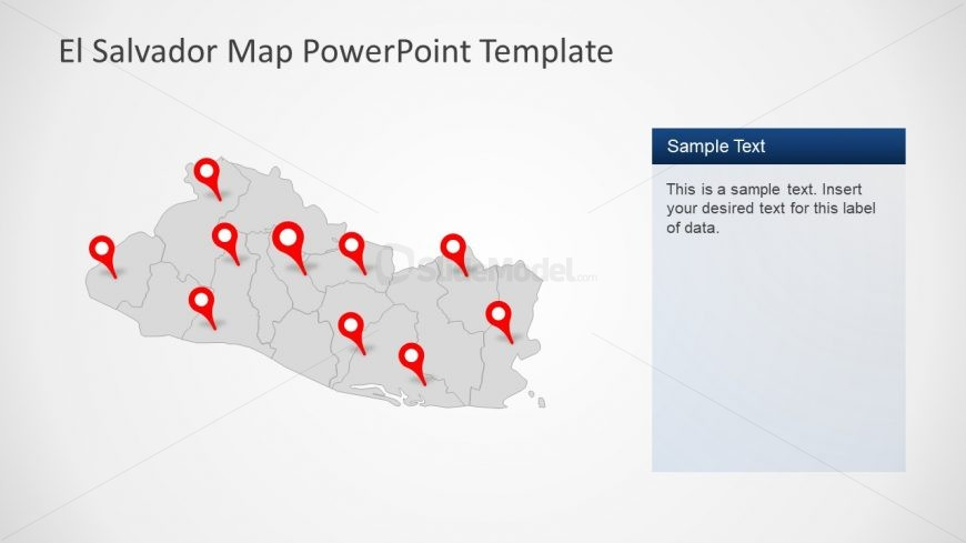 Gray Location Map of El Salvador