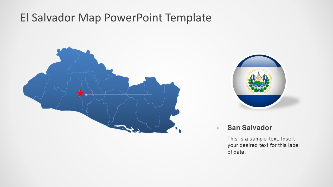 PPT El Salvador Map Template