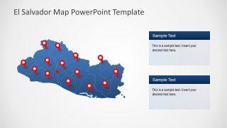 El Salvador PowerPoint Map Blue