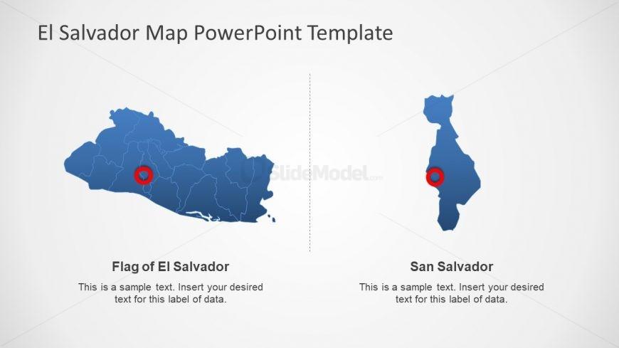 Zoomed Segments of El Salvador