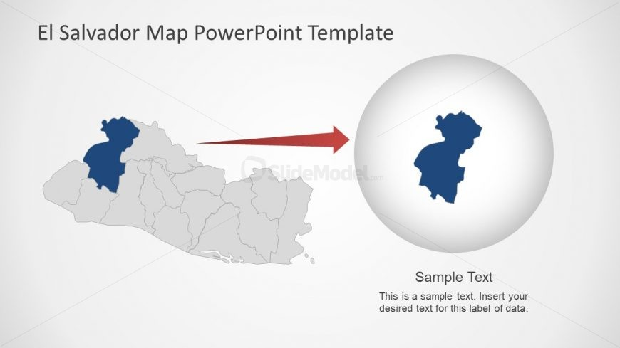 Presentation of El Salvador Map Template