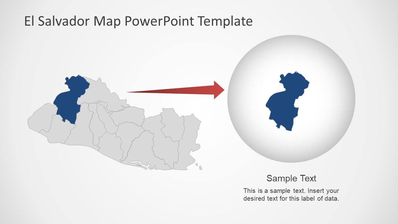 Presentation of El Salvador Map Template