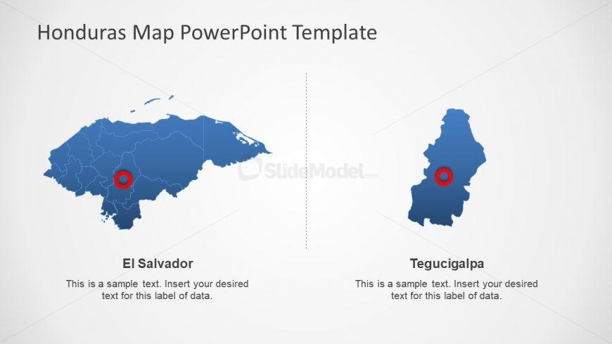 Blue Outline Honduras Map