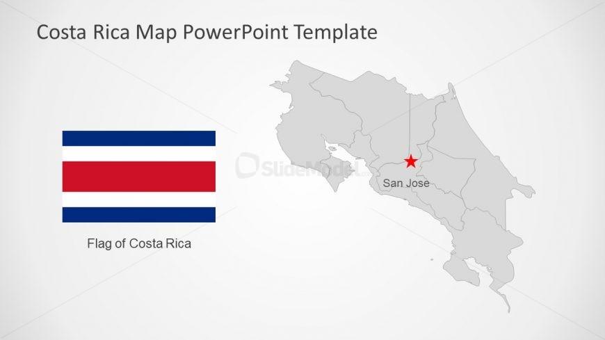 Central America Costa Rica Map