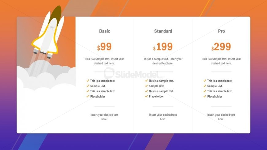 Template of 3 Plans Pricing