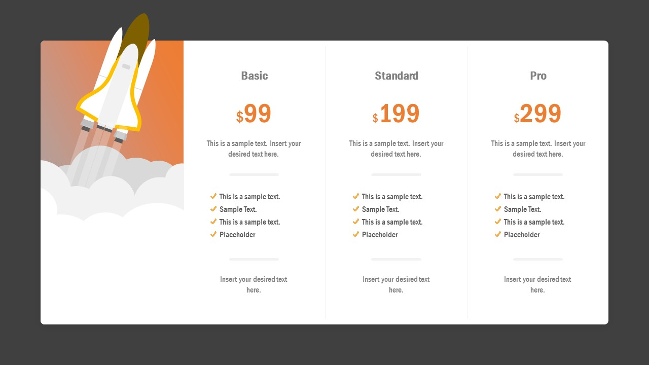 Plans and Pricing Table PPT