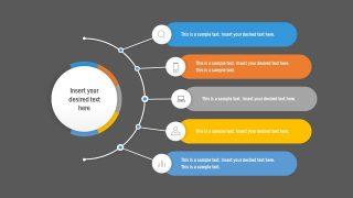 5 Items Agenda Template PowerPoint