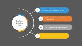 4 Items Agenda Template PowerPoint