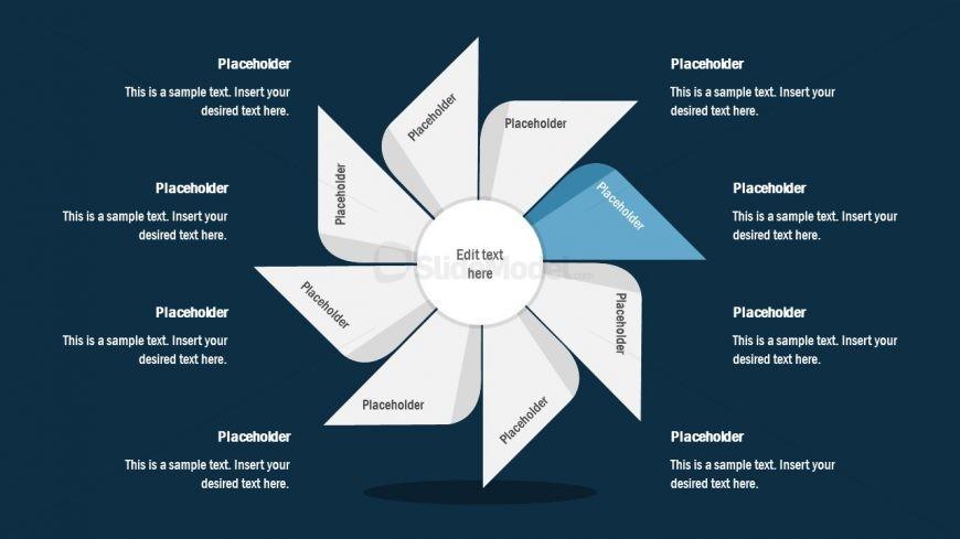 FlyWheel PowerPoint 2 Segment Process Cycle
