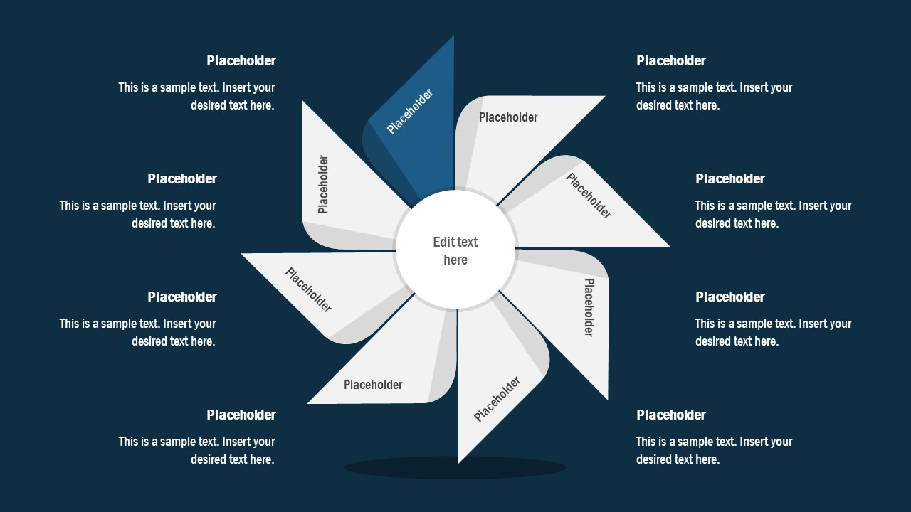 FlyWheel PowerPoint 8 Segment Process Cycle