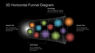 3D Horizontal Funnel for PowerPoint