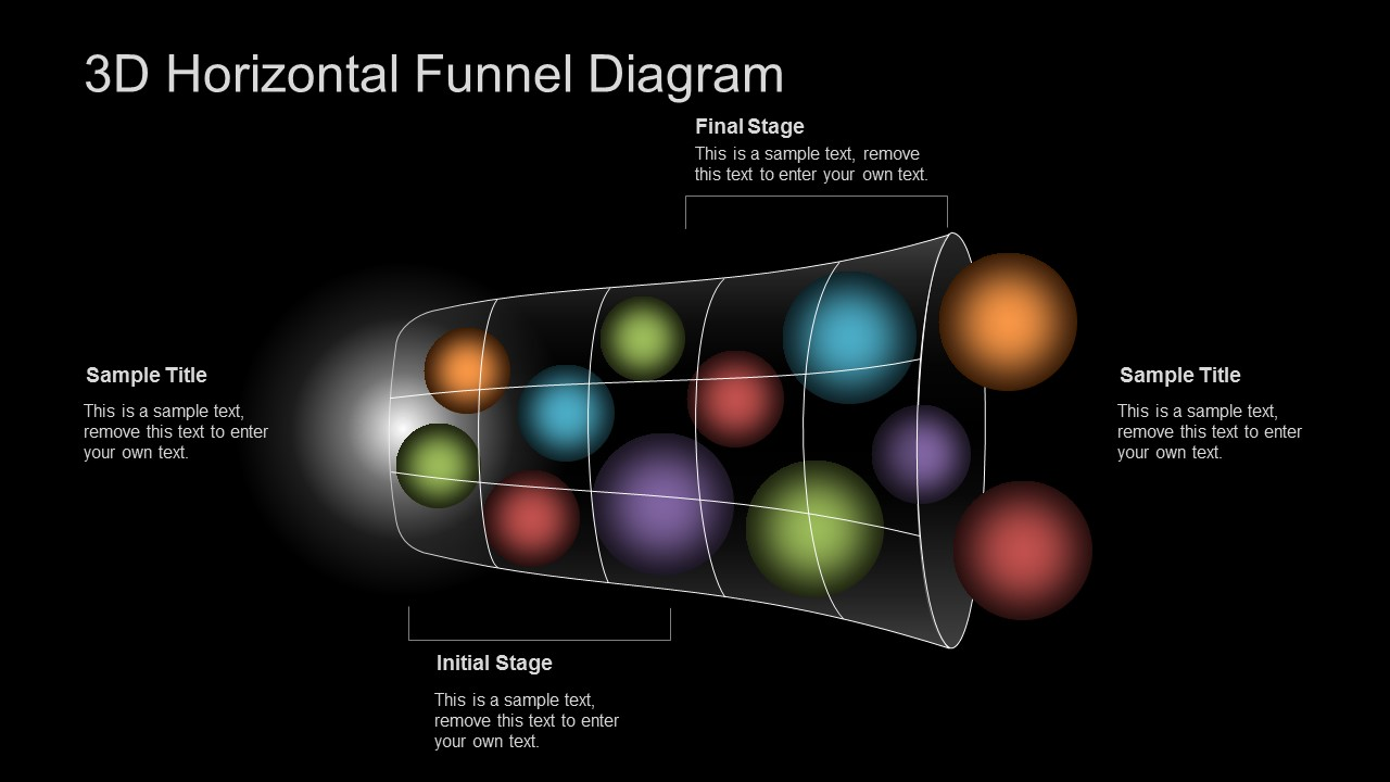 3D PPT Template Funnel Diagram