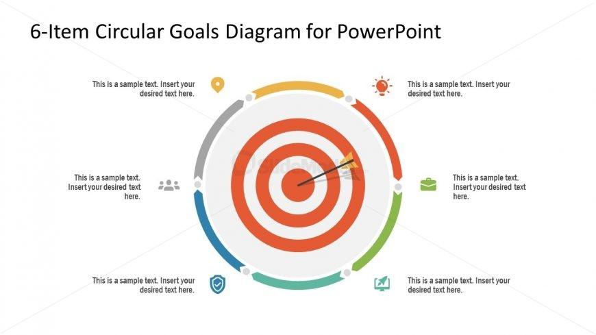 PowerPoint 6 Steps Circular Diagram