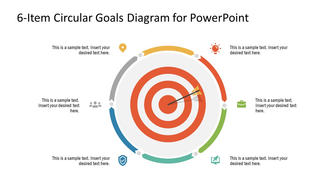 PowerPoint 6 Steps Circular Diagram