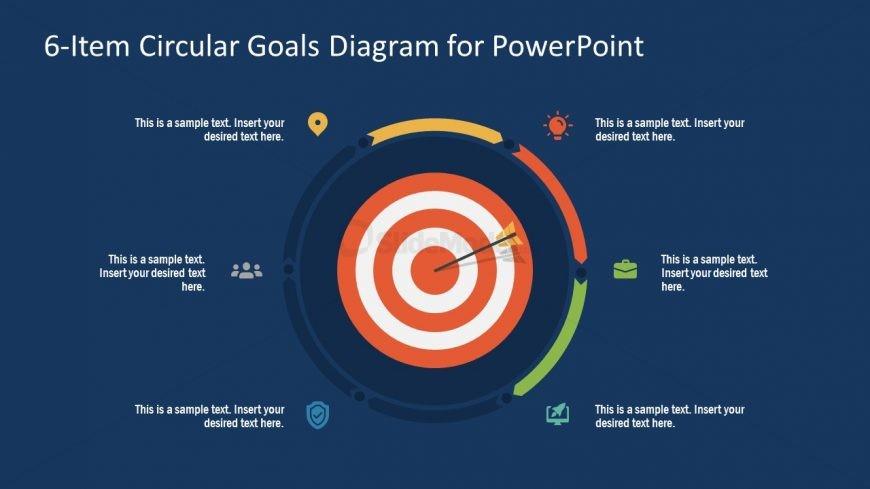 PowerPoint Step 3 Circular Goals Slide