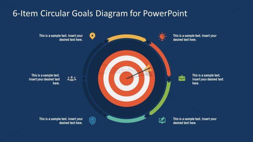 PowerPoint Step 4 Circular Goals Slide