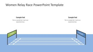 Racing PowerPoint Start and Finish Line