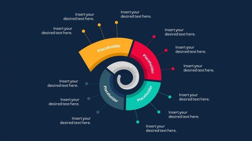 4 Steps Spiral Workflow Diagram