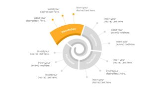 Flat Spiral PowerPoint Diagram Template