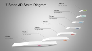 7 Steps PowerPoint Diagram With 3D Stairs